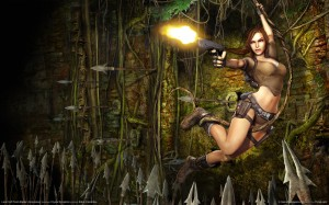 lara croft swinging