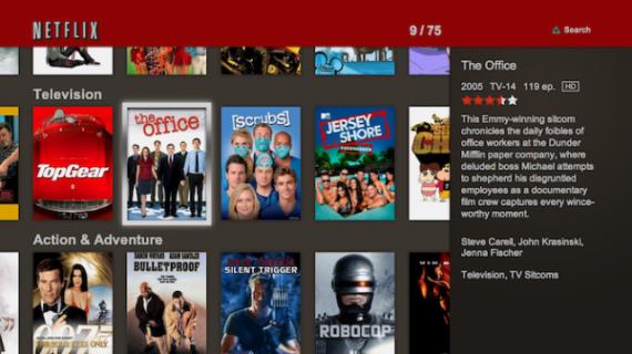 Netflix Navigation on PS3